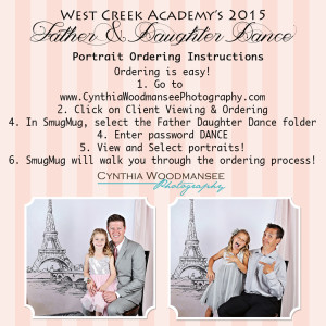 Father/Daughter Dance portraits! | West Creek Academy PTA